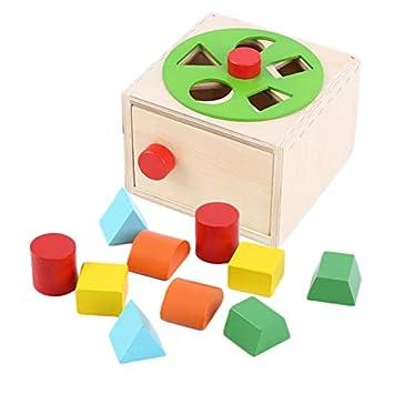 Juguetes de madera Oxford forma clasificador de la caja de madera con rueda giratoria - juguetes de madera para 1 año de edad: Amazon.es: Juguetes y juegos