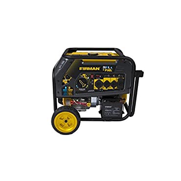Firman H08051 Hybird Series 8000 Watt Electric Start Dual Fuel Portable Gen...
