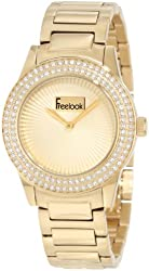 Freelook Women's HA5338G-3 All Gold Band And Dial Swarovski Bezel Watch