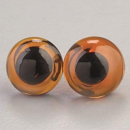2 unidades Ø 6 mm negro Ojos de vidrio para animales