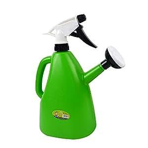 SENLIXIN Pulverizador de riego para botellas de 1 litro, 2 en 1, pulverizador de 2 en 1 con dos modos de pulverización (pulverizador de agua – verde)