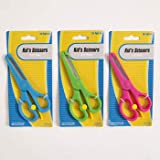 DollarItemDirect Scissors Student 5.25INL 3AST ON 12PC MDSGSTRIP, Case Pack of 48