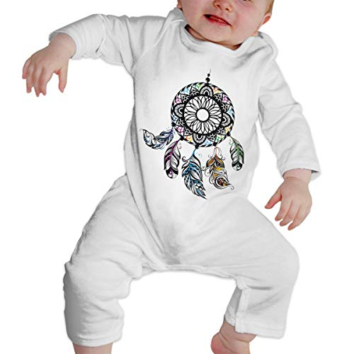 LTYBabys American Indians Dream Catcher Unisex Baby Long Sleeve Cute Jumpsuit White