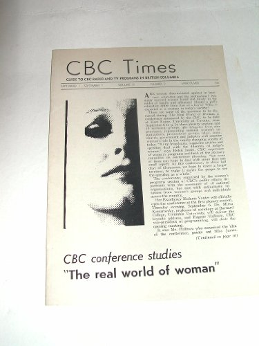 CBC TIMES September 1-7 1962 Volume 13 No 9 Pacific Region Schedule