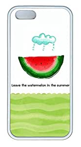 Summer Watermelon Cover Case Skin for iPhone 5 5S Soft TPU White