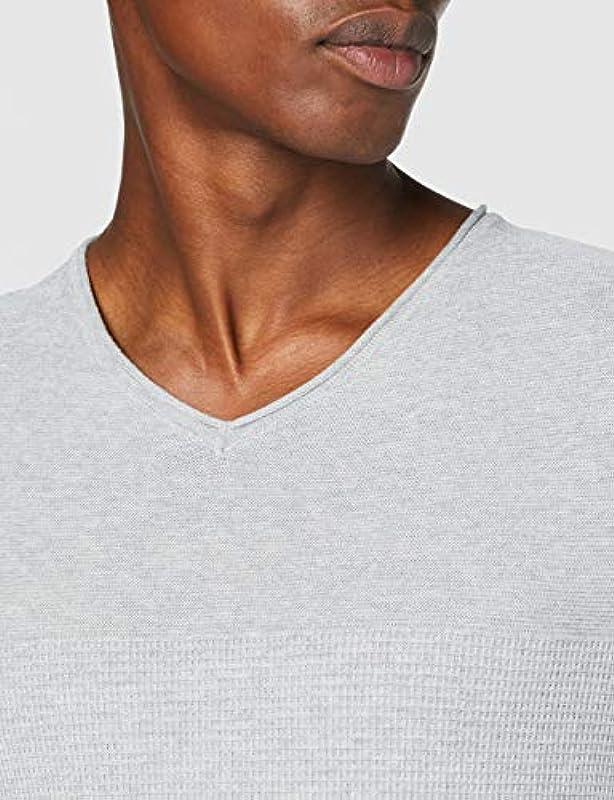Jack & Jones Jprblamaximus Knit V-Neck Organic sweter męski: Odzież