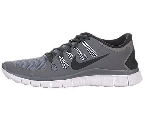 new arrival 921cb efe22 ... Nike Mens Free 5.0+ Breathe Running Cool Grey Grey Anthracite White  Synthetic Shoe ...