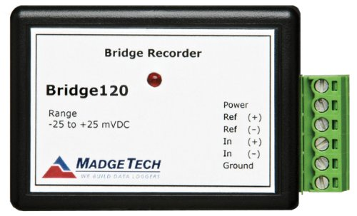 MadgeTech Bridge120-1000mV-CERT Differential Input, Bridge/Strain Gauge Data Logger, 1000 Millivolt Measuring Range, 50 Microvolt Resolution, , +/-0.01%FSR Accuracy, with NIST Certificate -