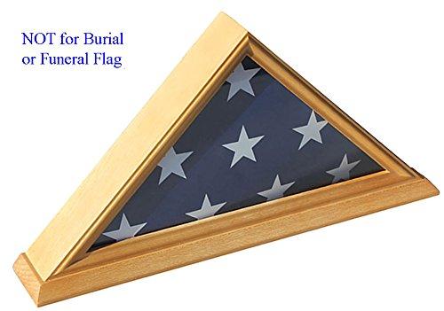 oak flag display case 3x5 - 5