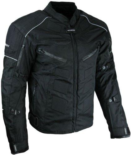 HEYBERRY Kurze Textil Motorrad Jacke Motorradjacke Schwarz Gr. M