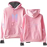 BTS Love Yourself Answer Korean Style Fake Two Hoodies Sweatshirts Pullover Top for Women and Men