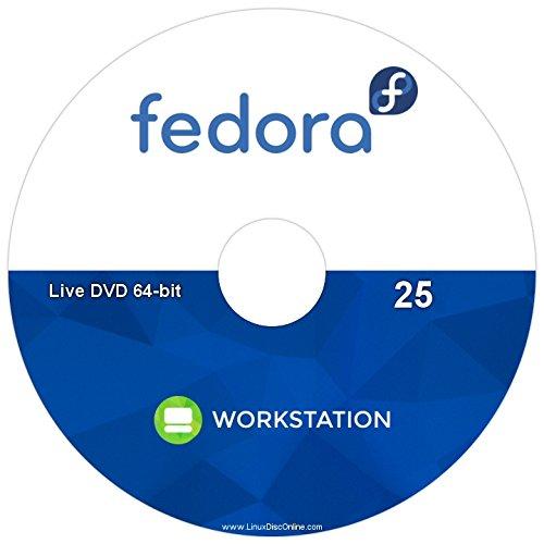 Fedora 25 Live Workstation Linux 64-bit - DVD -