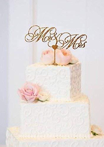 Amazon Com Mr And Mrs Wedding Cake Topper Rose Gold Wedding Cake