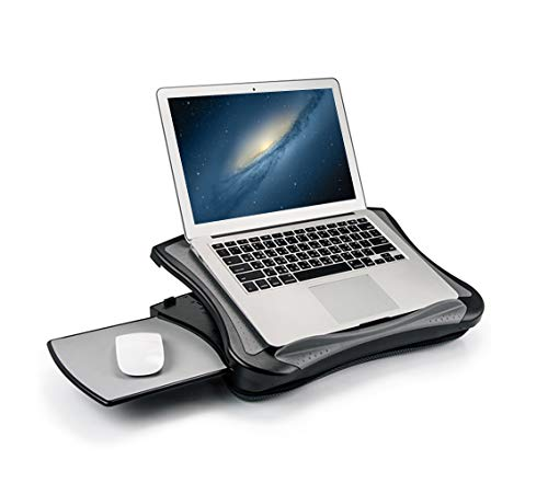 MAX SMART Laptop Lap Pad Laptop Stand with Attached Mouse Pad, Cushion and USB Cooling Fan, Non-Slip Heat Shield Tablet…