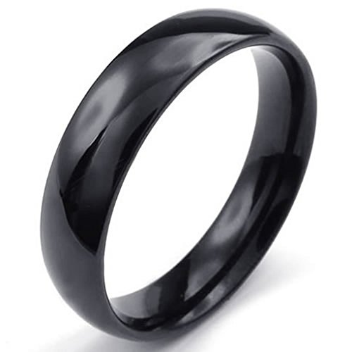 [Bishilin Stainless Steel Men's Wedding-bands Width 5mm Black Size 9] (Iron Fist Costumes For Kids)