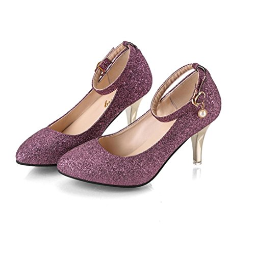 Neartime Clearance Women High Heel Shoes, Fashion 2018 Ladies Lace-Up Casual Sandals Pointed Toe Party Office Solid Color Shoes(5cm-8cm)