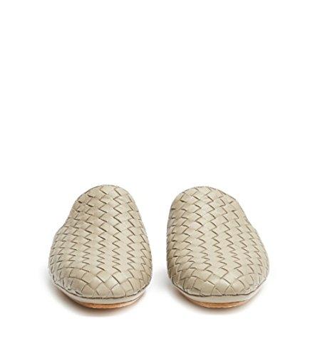 Bottega Veneta Intrecciato Leather Slip-Ons- Fiandra Taupe