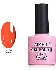 AIMEILI Soak Off UV LED Gel Nail Polish - Orange Sweetie (027) 10ml