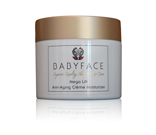 Babyface MEGA LIFT CREME All-In-One Daytime / Nighttime Moisturizer - Peptides, Vitamin C, AHA's, COQ10