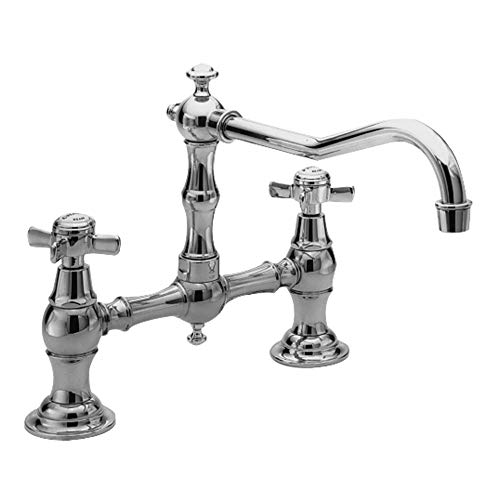 - Newport Brass 945/26 940 Series Two-Hole Kitchen Faucet, Polished Chrome