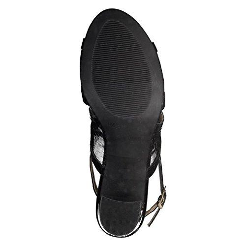 Caprice - Sandalias de vestir de Piel para mujer negro