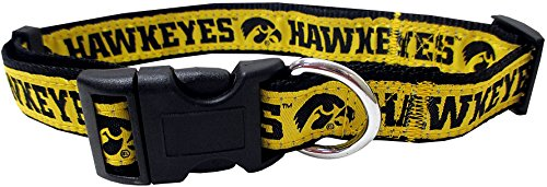 (Pets First Collegiate Pet Accessories, Dog Collar, Iowa Hawkeyes, Medium )