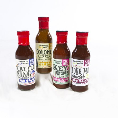 All Natural BBQ Sauce Sampler Kit by Pig of the Month BBQ by Pig of the Month BBQ