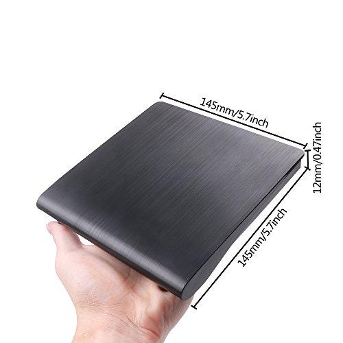 MAXEDOD External DVD Drive, USB 3.0 CD Rom Drive, Ultra Slim DVD/CD Writer Burner Player High Speed Data Transfer Drive for Windows XP/2003/Vista/7/8.1/10, Linux, all Version Mac OS System Black by MAXEDOD (Image #6)