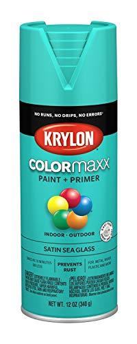 Krylon K05576007 COLORmaxx Spray Paint, Aerosol, Sea Glass (Stained Glass Krylon)
