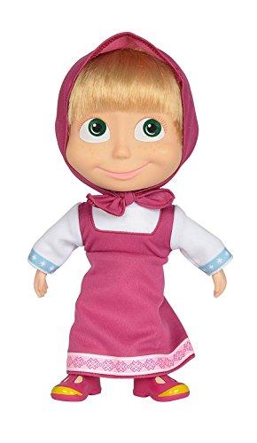 "Simba Masha and the Bear Masha Doll 9"" Pink Dress from Masha and the Bear"