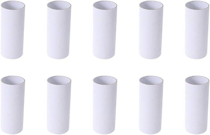 Bricolaje Color Blanco Aula y proyectos de Arte Tubos de cart/ón de 10 Pulgadas para ni/ños Genie Crafts 12 Rollos de Papel para Manualidades
