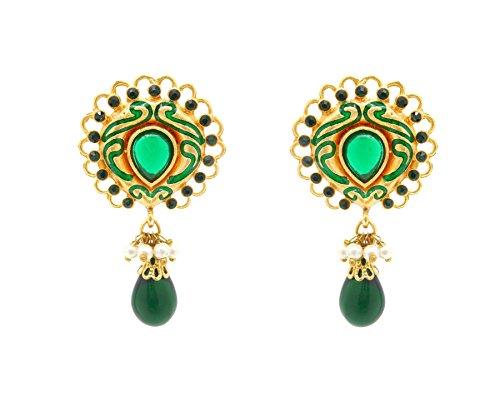 Rich Lady stylish Green Designer Earring