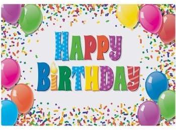 Amazon.com: Feliz Cumpleaños Papel Manteles individuales (50 ...
