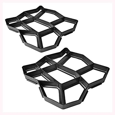 "K&A Company Pavement Mold for The Garden 16.5""x16.5""x1.6"" Set of 2"