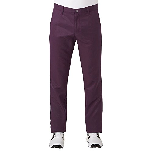 adidas Golf Men's Ultimate Tonal Stripe Pants, Red Night, -