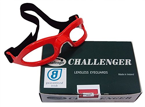 Challenger Lensless Coloured Eyeguards - Red -