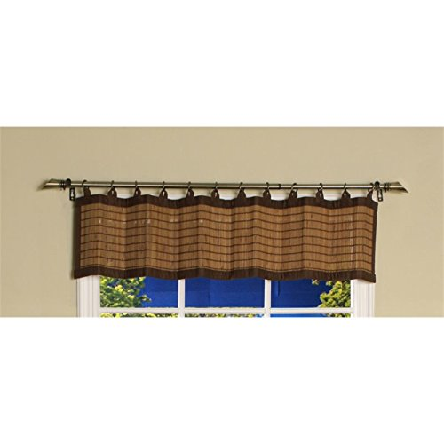 Pemberly Row Patented 12'' Ring Top Bamboo Valance in Colonial by PEMBERLY ROW