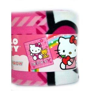 Hello Kitty Plush Throw Pink with Bear