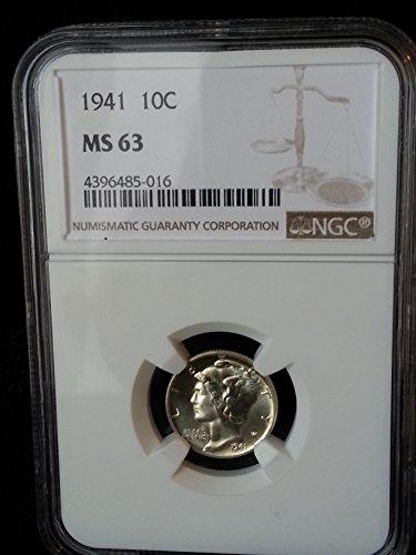 1941 Mercury Dime MS63 NGG Dime MS-63 NGC