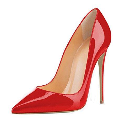 e545c7782f elashe- Scarpe da Donna - 12CM Scarpe col Tacco High Heel Pumps- Classiche  Scarpe col Tacco