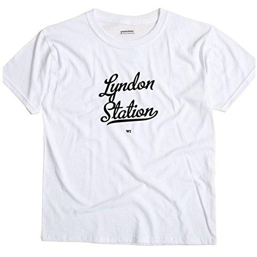 Lyndon Station Wisconsin WI METRO GreatCitees Unisex Souvenir T (Metro Station Shirts)