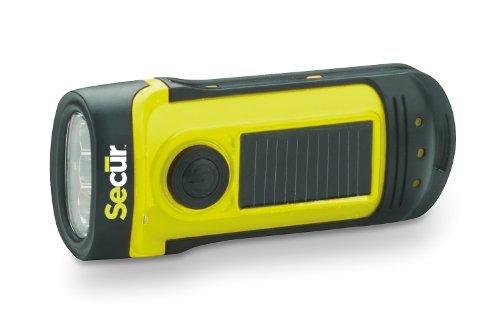 41ORv957T%2BL - Secur Dynamo 8 Lumen Solar Waterproof LED Rechargeable Flashlight