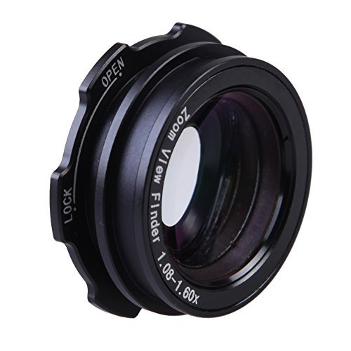 1.08x-1.60x Zoom Viewfinder Eyepiece Magnifier for Canon Nikon - 5