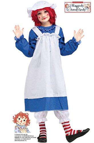 8eighteen Rag Doll Raggedy Ann Child Costume (Gothic Rag Doll Costume Plus Size)