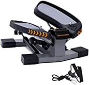 Sportsroyals Stair Stepper with Resistance Band and Vertical Climber Exercise Machine for Home, More Than 300l