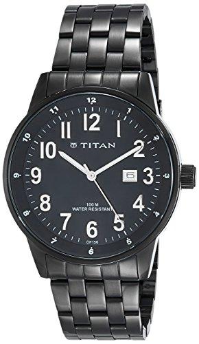 Titan Gents Classique Analog Black Dial Men #39;s Watch NM9441NM01 / NL9441NL01