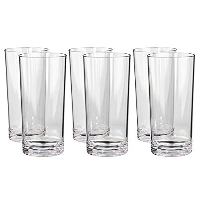 Classic Premium Quality Plastic 24oz Iced Tea Tumbler | Set of 6