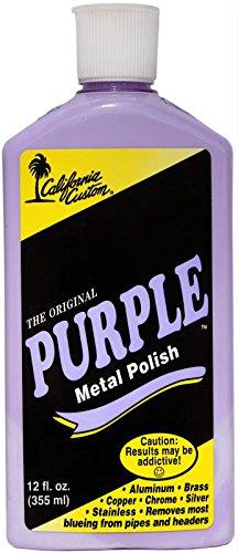 (California Custom Purple Metal Polish 12 oz)