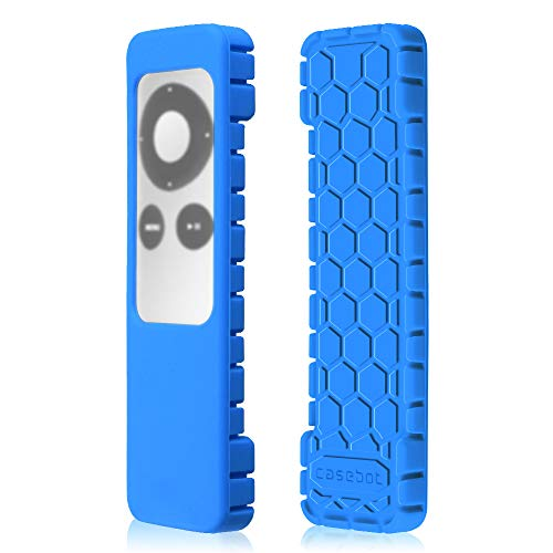 Fintie Protective Case for Apple TV 2 3 Remote Controller - Casebot (Honey Comb Series) Light Weight (Anti Slip) Shock Proof Silicone Sleeve Cover, ()