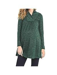 Women's Pregnant Casual Loose Nursing Shirts Tops Maternity Long Sleeve V Neck Pullover Blouse Breastfeeding Sweatshirts